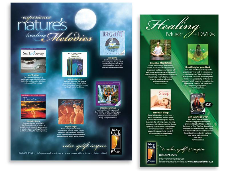 Ad design for New World Music