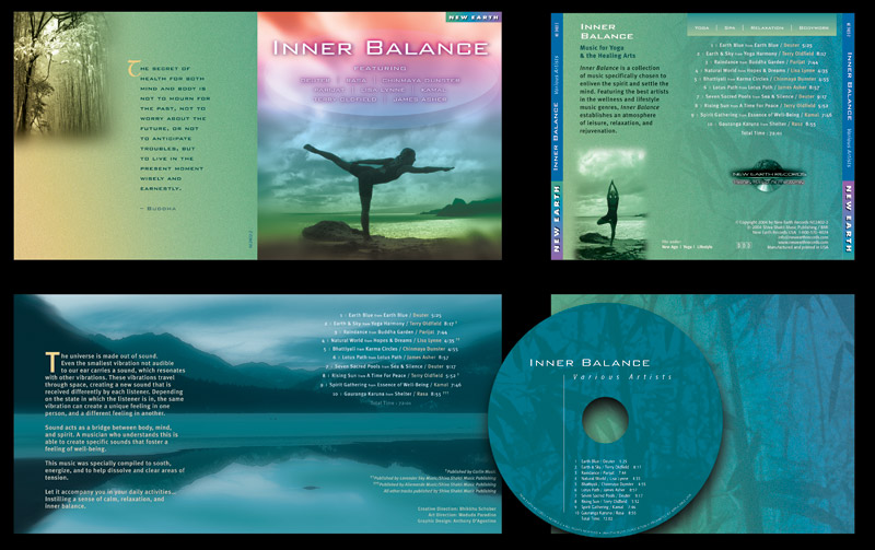 """""""Inner Balance"""" CD Packaging Design by A.D. Design in Santa Fe, New Mexico"""