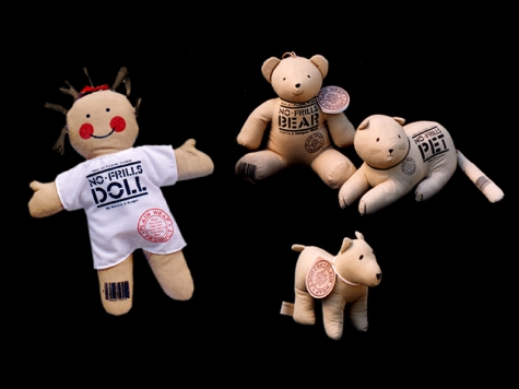 """Plush toy design for """"No-Frills"""" stuffed animal and doll products"""