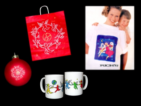 Design and illustration for RICH'S Department Store shopping bags, ornaments, mugs and t-shirts