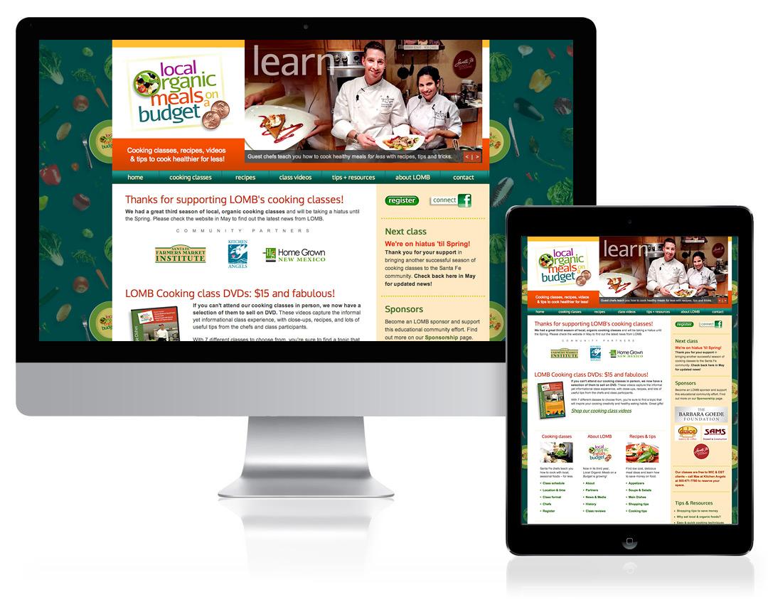 Website Design for Local Organic Meals on a Budget, Santa Fe, NM